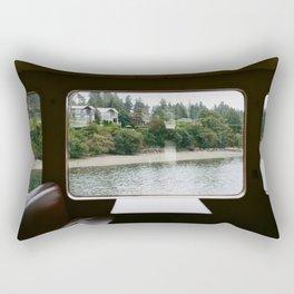 Ferry Ride to Bainbridge Island, WA Rectangular Pillow
