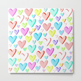 Candy Hearts 1 Metal Print