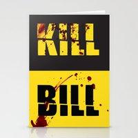 kill bill Stationery Cards featuring Kill Bill by Melis Kalpakçıoğlu