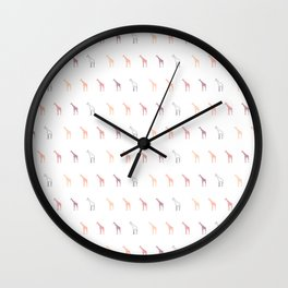 pastel giraffe pattern Wall Clock