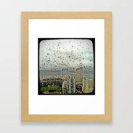A Rainy Day in San Diego Framed Art Print