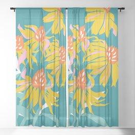 Flower Market Los Angeles Sheer Curtain