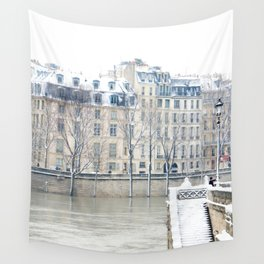 Stairway to the Seine Wall Tapestry
