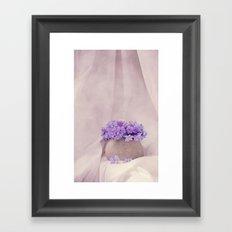 poeme de violet Framed Art Print