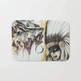 WOLF and the girl Bath Mat