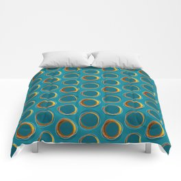 Solar Eclipse MCM Gold-Blue Comforters