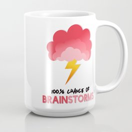 100% Chance of BRAINSTORMS Coffee Mug