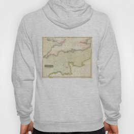 Vintage Map of The English Channel (1814) Hoody