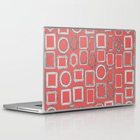 frames Laptop & iPad Skins featuring picture frames coral by Sharon Turner