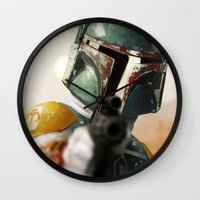 boba Wall Clocks featuring Boba by Yvan Quinet
