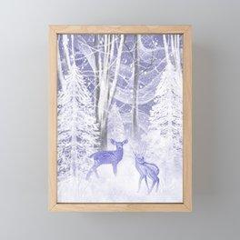 Winter Fawns Framed Mini Art Print