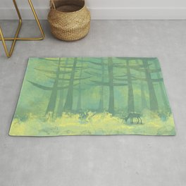 The Clearing in the Forest Rug