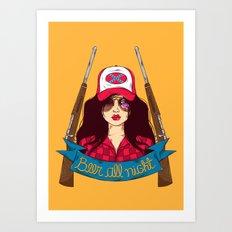 Dangerous Girls - Redneck Art Print