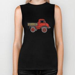 Red truck / transporter Biker Tank