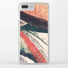 Thunder&Lightning {3}: Minimal watercolor abstract in pinks, blues, and greens Clear iPhone Case