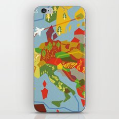 Abstract European Travel Map iPhone & iPod Skin