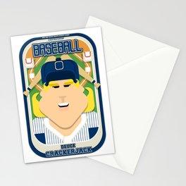 Baseball Blue Pinstripes - Deuce Crackerjack - Hazel version Stationery Cards