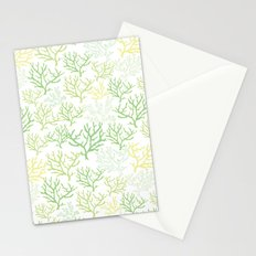 Green Corals Stationery Cards