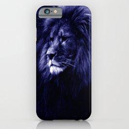 Indigo Blue Lion. iPhone Case