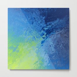 Blue Green Madness  Metal Print