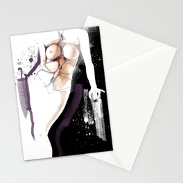 The beauty of tight binding, Naked body tied up with rope, Nude art, Fine-art shibari rope bondage Stationery Cards