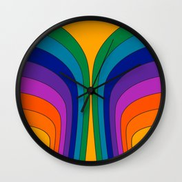 Summertime Wing Wall Clock