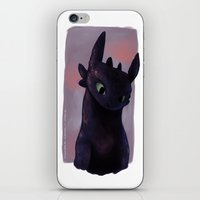 toothless iPhone & iPod Skins featuring Toothless by tsunami-sand