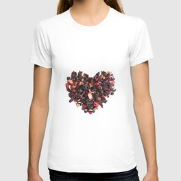 petals tea formed in heart shape T-shirt