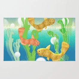 Toy Catfish Under the Sea Rug