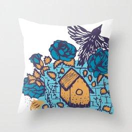 Fly free little bird Throw Pillow