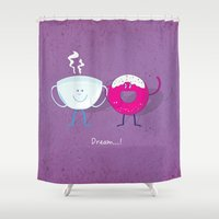 donut Shower Curtains featuring Donut by Tony Vazquez