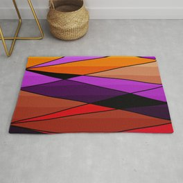 Abstract, geometric pattern Rug