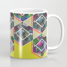 Tribal Octagon Vibes Textured Home Goods Urban Pattern Coffee Mug