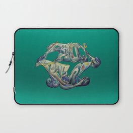 Faux Real - Teal - This is Not Typography Laptop Sleeve
