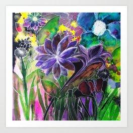 Spring Garden In Bloom Art Print
