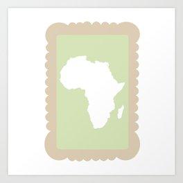 Zoo Biscuit Series - Africa Art Print