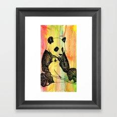 Panda Trip Framed Art Print