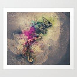 When i Dream of Chameleon Art Print
