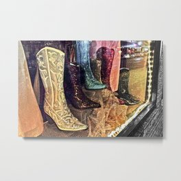 Sparkly Boots Metal Print