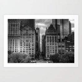Urban Canyons - B&W Art Print