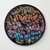 talking heads Wall Clocks featuring Heads by Canson City