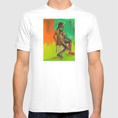 Male Nude Mens Fitted Tee White MEDIUM