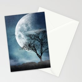 Moon Blues Stationery Cards