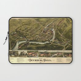 Aerial View of Seymour, Connecticut (1879) Laptop Sleeve