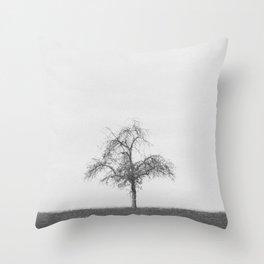 tree black & white Throw Pillow