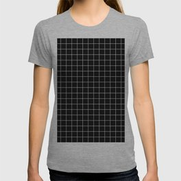 Square Grid Black T-shirt