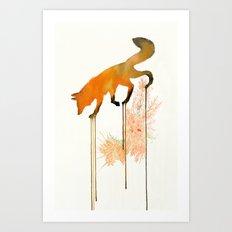 red_fox Art Print