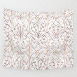 Art Deco Marble & Copper Wall Tapestry