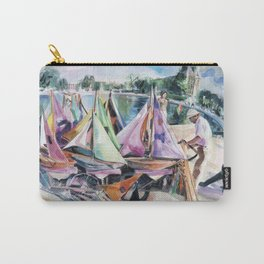 A September sun illuminates the boat tender's stand, No. 2 - The Tuileries pond, Paris Carry-All Pouch