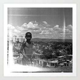 Above Santiago de Cuba Art Print